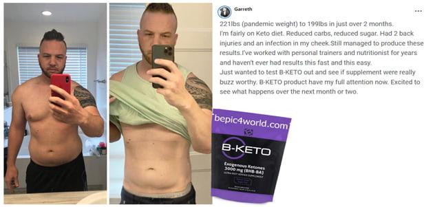 Garreth about B-KETO product by B-Epic