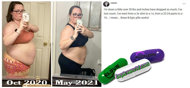 Leann writes about B-Epic pills to get weight loss