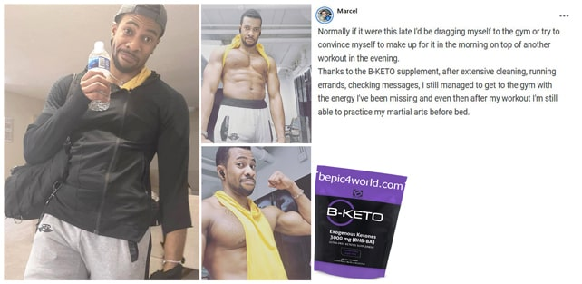 Marcel about B-KETO supplement by B-Epic