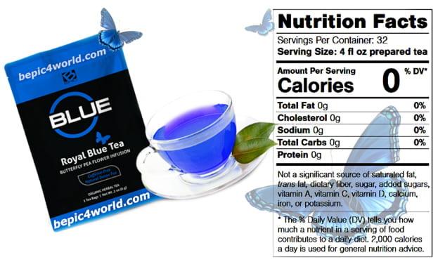Composition Royal Blue Tea