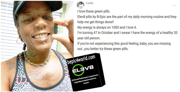 Curtis writes about using B-Epic pill Elev8