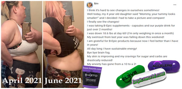 Feedback of Erin about B-Epic supplements