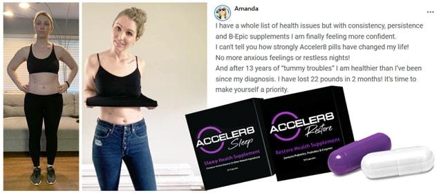 Review of Amanda about Acceler8 pills