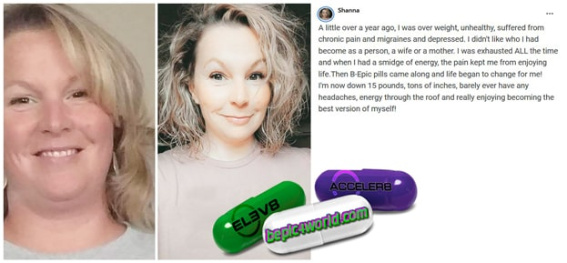 Shanna writes about using B-Epic pills to lose weight