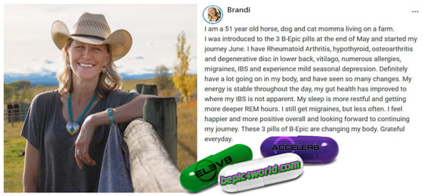 Brandi writes about the benefits of 3 pills of BEpic