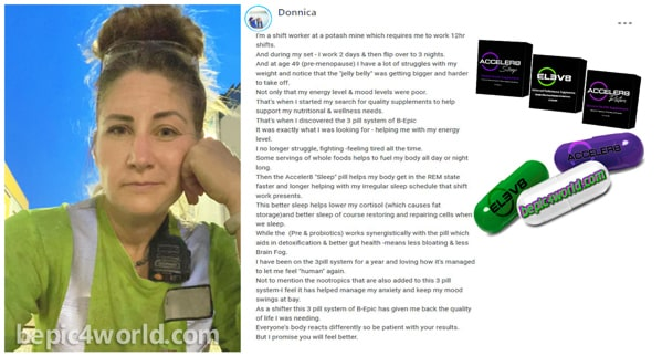 Donnica writes about the benefits of 3 pill system of BEpic