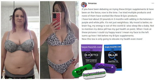 Feedback of Amanda about the benefits of BEpic supplements for healthy