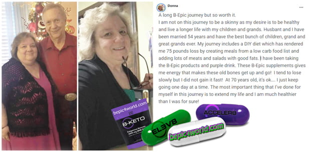 Feedback of Donna about the benefits of BEpic products
