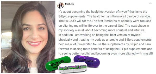 Feedback of Michelle about BEpic supplements