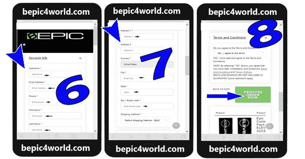 Registration in BEpic registration scheme 3