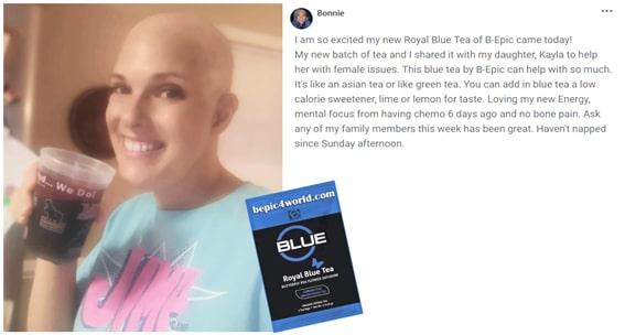 Review of Bonnie about Royal Blue Tea by B-Epic