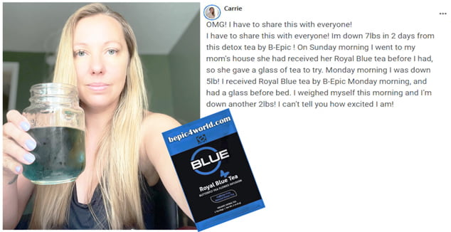 Review of Carrie about Royal Blue Tea by B-Epic
