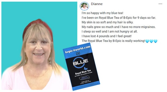 Review of Dianne about Royal Blue Tea of B-Epic