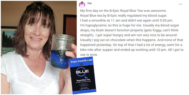 Review of Joy about Royal Blue Tea by BEpic