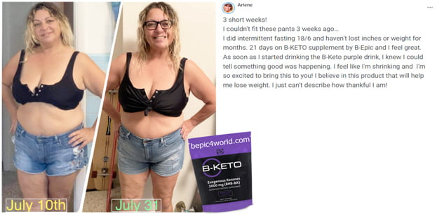 Arlene writes about B-KETO purple drink by B-Epic