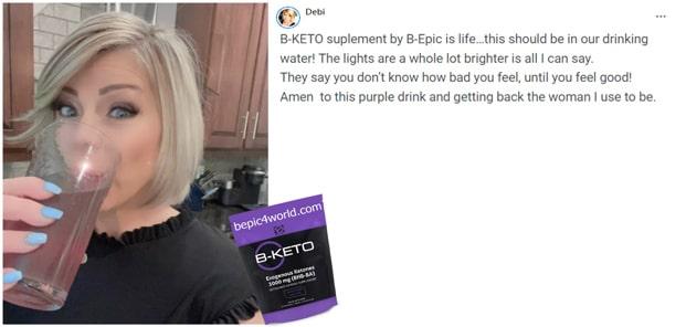 Debi writes about B-KETO purple drink by B-Epic
