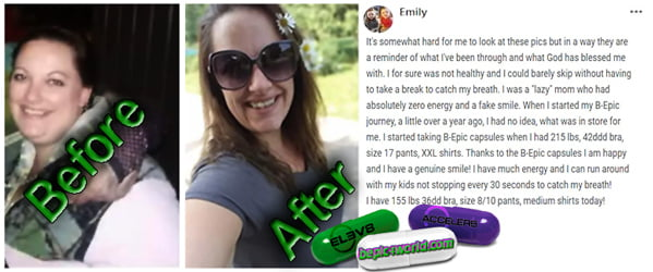 Emily writes about the benefits of BEpic capsules for energy and weight loss