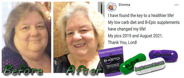 Feedback of Donna about the benefits of B-Epic supplements for healthier life