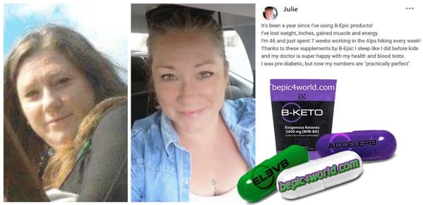 Feedback of Julie about the benefits of products by BEpic