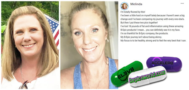 Feedback of Melinda about the benefits of BEpic products