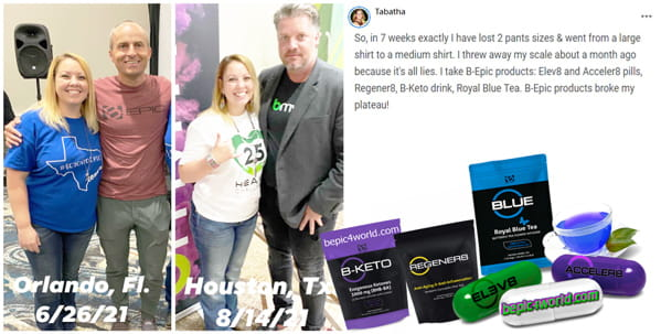 Feedback of Tabatha about-the benefits of B-Epic products for lose weight