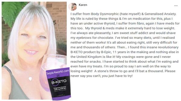 Karen writes about B-KETO supplement by B-Epic