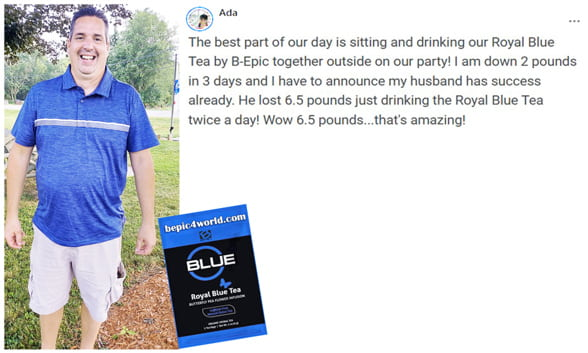 Review of Ada about Royal Blue tea by B-Epic