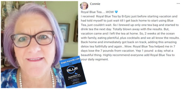 Review of Connie about Royal Blue Tea by B-Epic