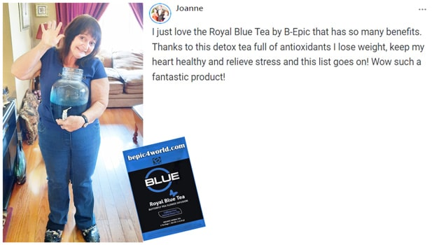Review of Joanne about Royal Blue Tea by B-Epic