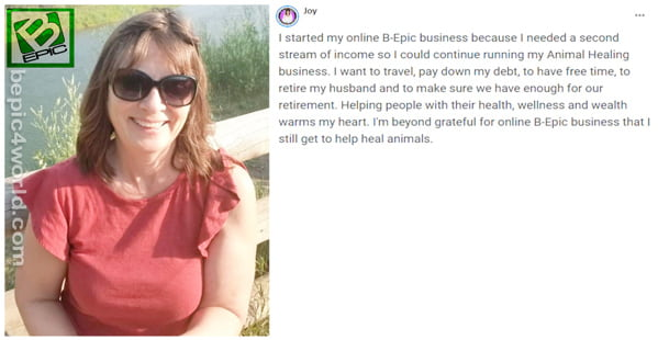 Review of Joy about the benefits of online BEpic business
