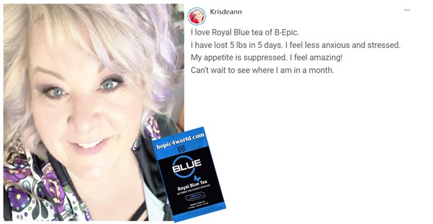 Review of Krisdeann about Royal Blue Tea by BEpic