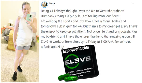 Review of Lona about Elev8 pill
