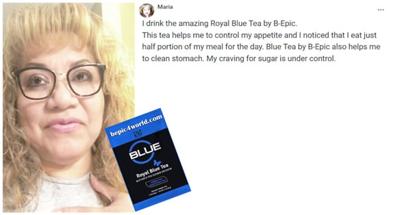 Review of Maria about Royal Blue tea by B-Epic
