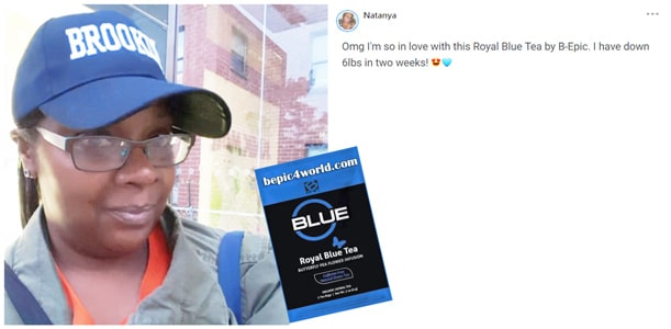 Review of Natanya about Royal Blue Tea by B-Epic