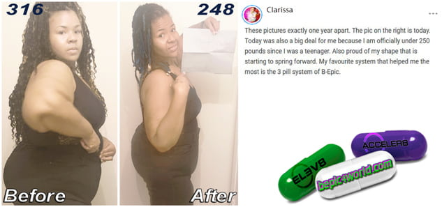 Clarissa writes about the effectiveness of the 3 pill system of B-Epic for weight loss