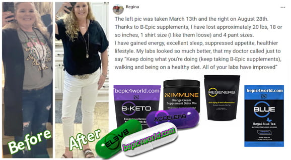 Feedback of Regina about B-Epic supplements
