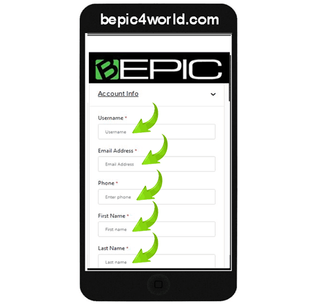 Instruction (scheme) 8 of placing order and buying BEpic supplements