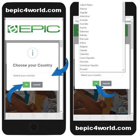 Registration in B-Epic registration scheme 1