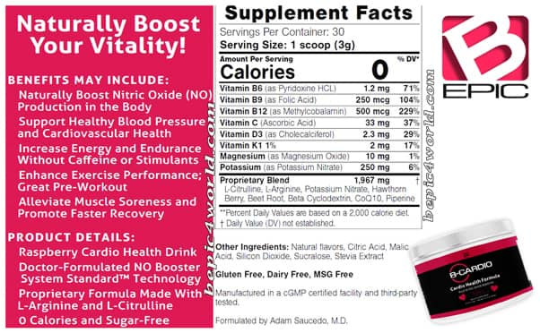 B-Cardio Ingredients