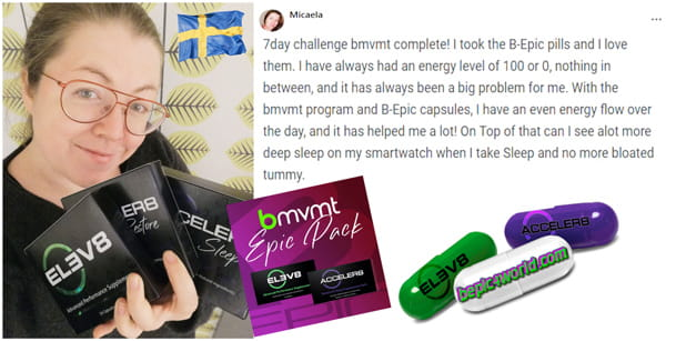 Micaela writes about the bmvmt system and the benefits of B-Epic capsules